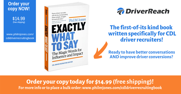 DriverReach Partners With Recruiting Sales Expert and Author Phil M Jones to Create CDL Driver Recruiting Book