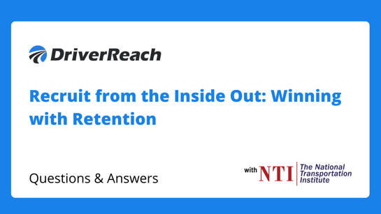 """Webinar Q&A: """"Recruit from the Inside Out: Winning With Retention"""""""