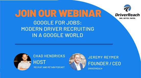 Upcoming Webinar: Google for Jobs—Modern Driver Recruiting in a Google World