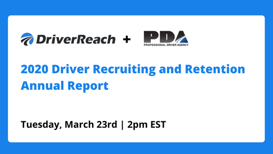 "Webinar | ""2020 Driver Recruiting and Retention Annual Report"""