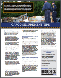 Cargo Securement Tips