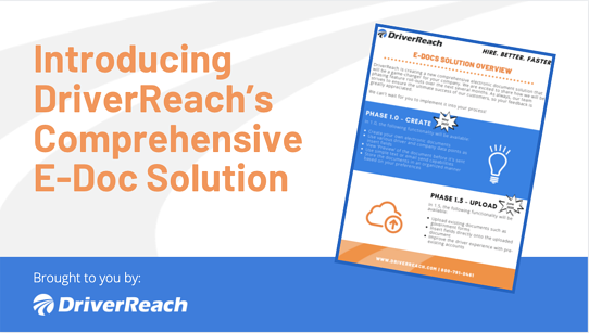 Introducing DriverReach's Comprehensive E-Doc Solution