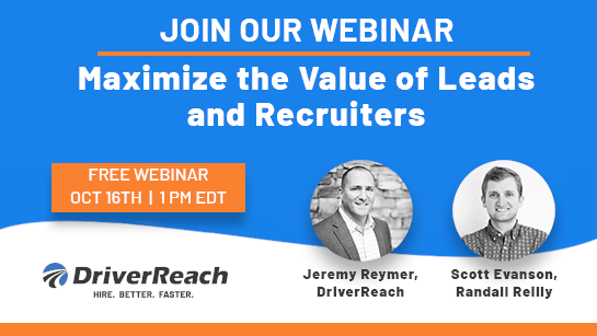 Upcoming Webinar: Maximize the Value of Leads and Recruiters