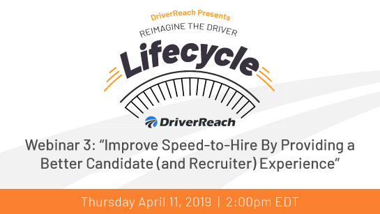 "Upcoming Webinar: ""Improve Speed-to-Hire By Providing a Better Candidate (and Recruiter) Experience"""