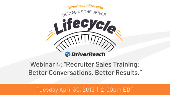 "Upcoming Webinar: ""Recruiter Sales Training: Better Conversations. Better Results"""