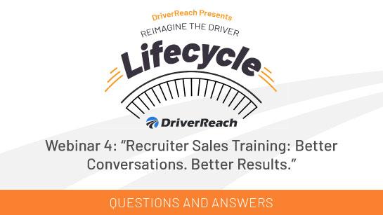 """Webinar Q&A: """"Recruiter Sales Training: Better Conversations. Better Results."""""""