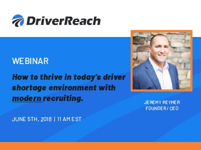WEBINAR: Modern Recruiting in A Driver Shortage