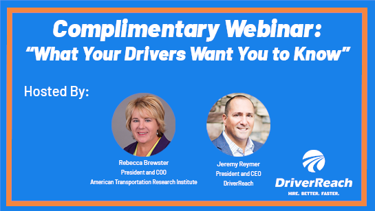 Upcoming ATRI Webinar: 'What Your Drivers Want You To Know'