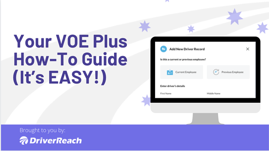 Your VOE Plus How-To Guide (It's EASY!)