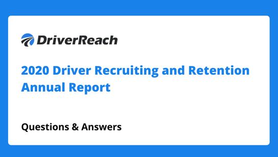Webinar Q&A: 2020 Recruiting and Retention Annual Report