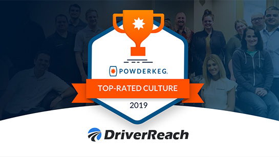 DriverReach Wins 3 Categories at Powderkeg's 2019 Indiana Tech Culture Awards!