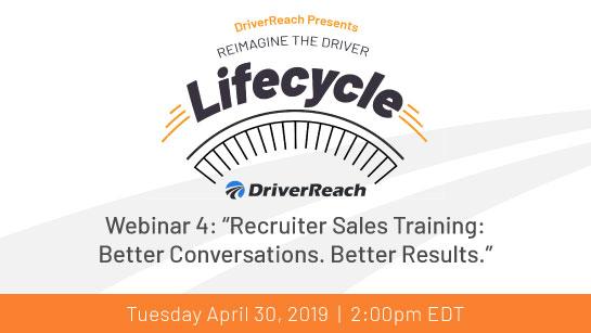 "Upcoming Webinar: ""Recruiter Sales Training: Better Conversations. Better Results"""