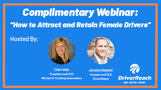 """Upcoming WiT Webinar: """"How to Attract and Retain Female Drivers"""""""