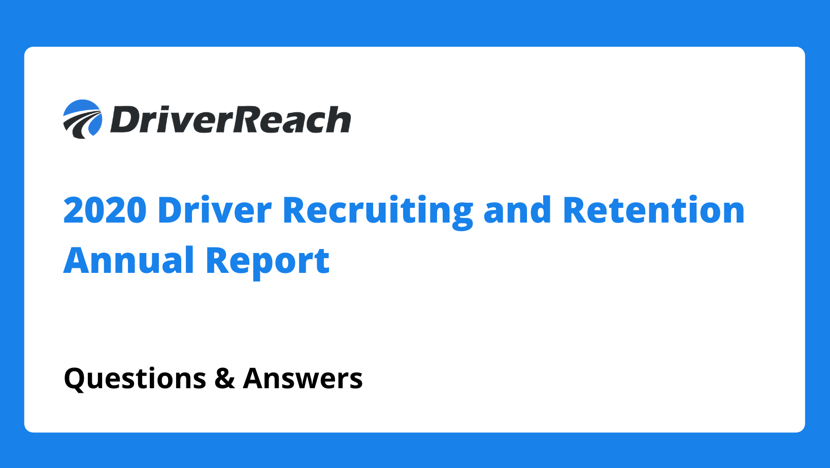 Webinar Q&A: 2020 Recruiting and Retention Annual Report